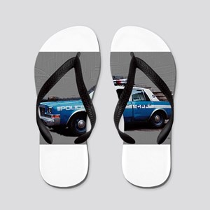 New York City Police Car 1980s Flip Flops