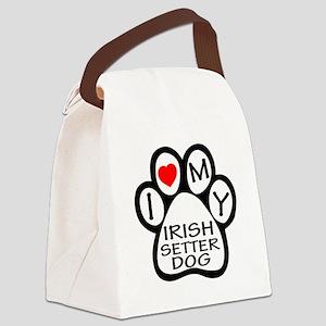 I Love My Irish Setter Dog Canvas Lunch Bag