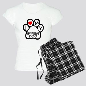 I Love My Havanese Dog Women's Light Pajamas