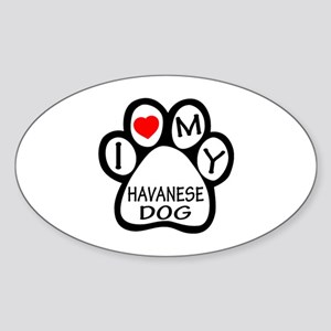 I Love My Havanese Dog Sticker (Oval)