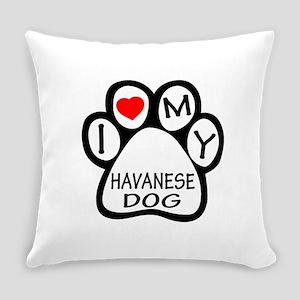 I Love My Havanese Dog Everyday Pillow
