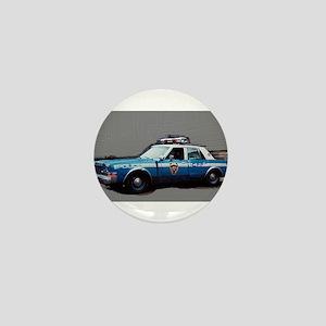 New York City Police Car 1980s Mini Button