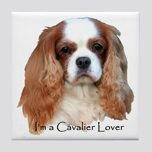 I'm A Cavalier Lover Tile Coaster