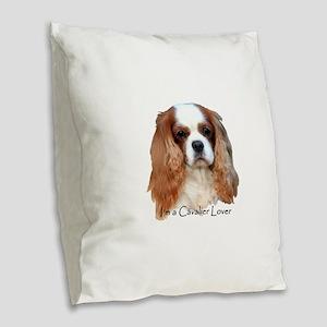 I'm A Cavalier Lover Burlap Throw Pillow