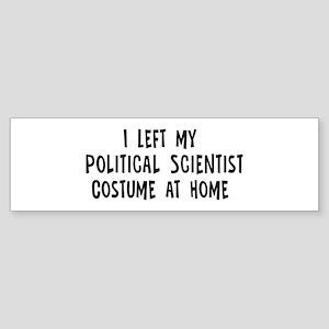 Left my Political Scientist Bumper Sticker