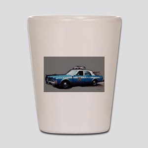 New York City Police Car 1980s Shot Glass