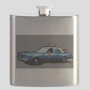 New York City Police Car 1980s Flask