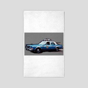 New York City Police Car 1980s Area Rug