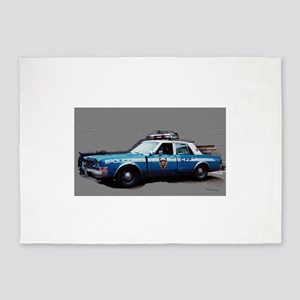 New York City Police Car 1980s 5'x7'Area Rug