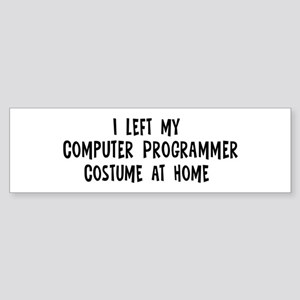 Left my Computer Programmer Bumper Sticker