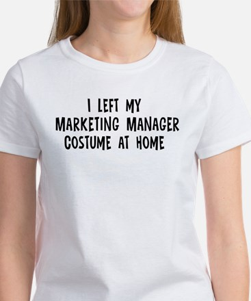 Left my Marketing Manager Women's T-Shirt