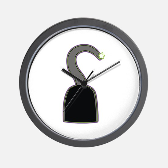 Hook costume Halloween Wall Clock