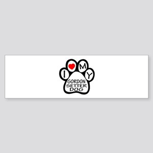 I Love My Gordon Setter Dog Sticker (Bumper)