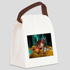 Dragon Treasure Canvas Lunch Bag