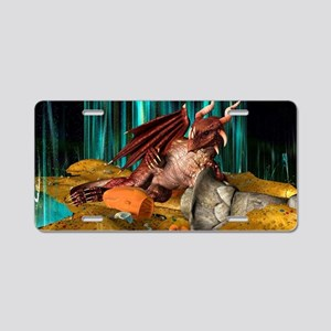 Dragon Treasure Aluminum License Plate