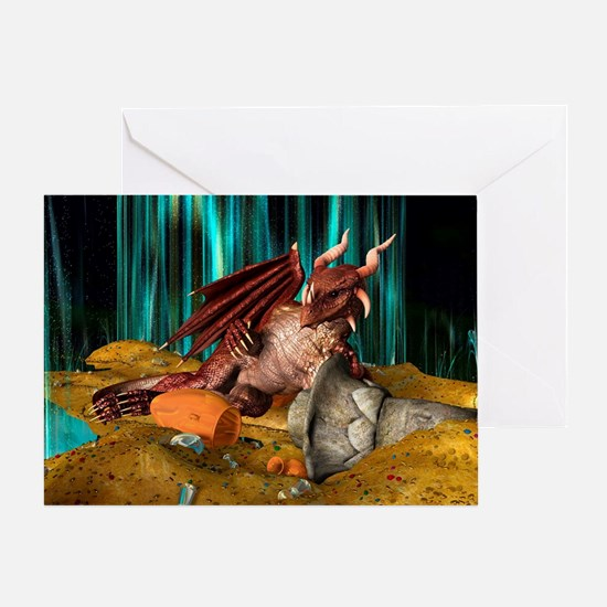 Dragon Treasure Greeting Cards
