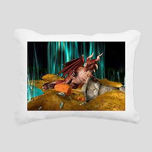 Dragon Treasure Rectangular Canvas Pillow