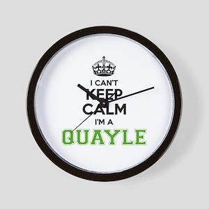QUAYLE I cant keeep calm Wall Clock
