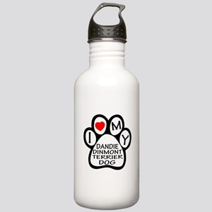 I Love My Dandie Dinmo Stainless Water Bottle 1.0L