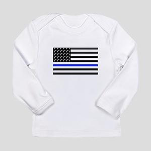 Flag Thin Blue Line Long Sleeve T-Shirt