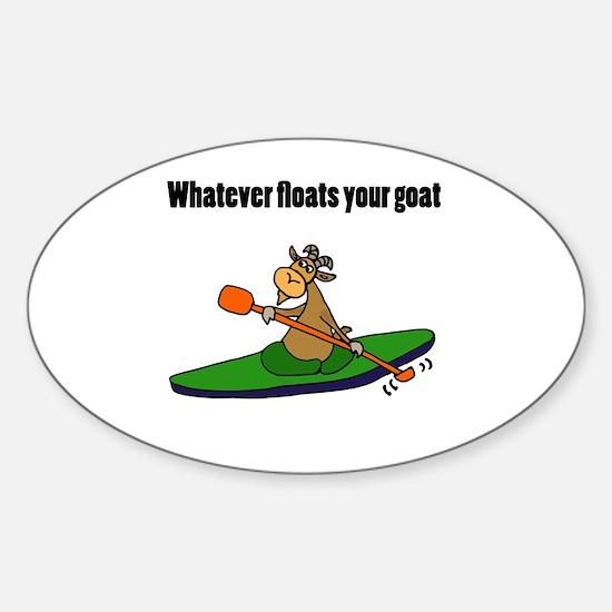 Cartoon goat Sticker (Oval)