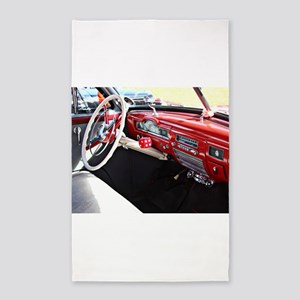 Classic car dashboard Area Rug