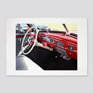 Classic car dashboard 5'x7'Area Rug