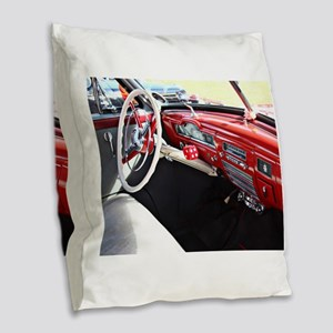 Classic car dashboard Burlap Throw Pillow