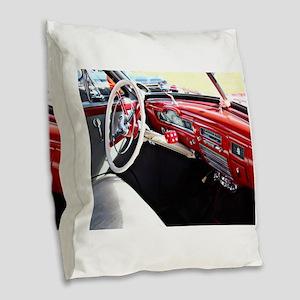 Classic car dashboard Burlap Throw Pillow
