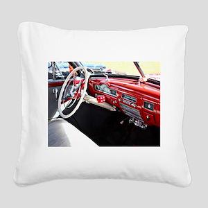 Classic car dashboard Square Canvas Pillow