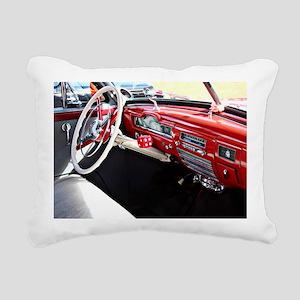 Classic car dashboard Rectangular Canvas Pillow