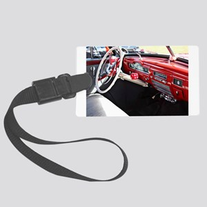 Classic car dashboard Large Luggage Tag