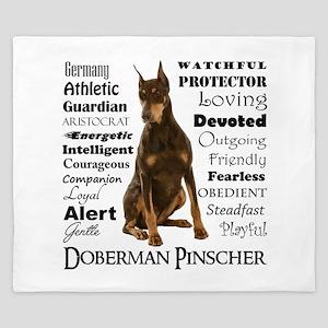 Doberman Traits King Duvet