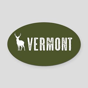 Deer: Vermont Oval Car Magnet