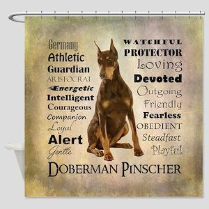 Doberman Traits Shower Curtain