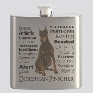 Doberman Traits Flask