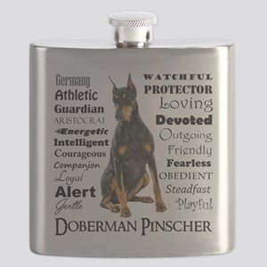 Doberman Traits Flask