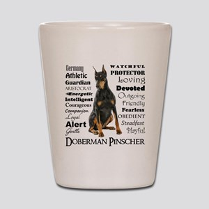 Doberman Traits Shot Glass