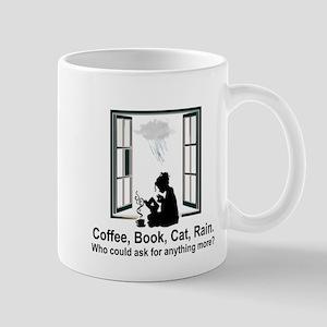 COFFEE, BOOK, CAT, RAIN Mugs