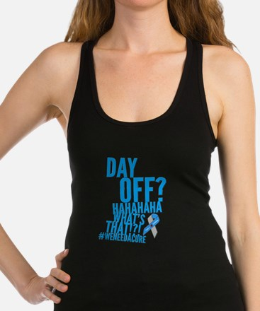 Diabetes Never Takes A Day Off Racerback Tank Top
