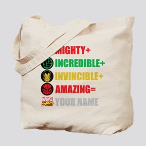Mighty Incredible Invincible Amazing Pers Tote Bag