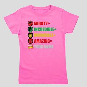 Mighty Incredible Invincible Amazing Pe Girl's Tee