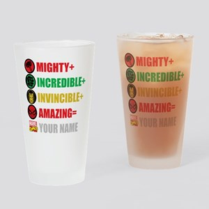 Mighty Incredible Invincible Amazin Drinking Glass