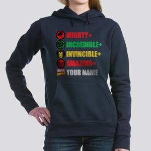 Mighty Incredible Invinc Women's Hooded Sweatshirt
