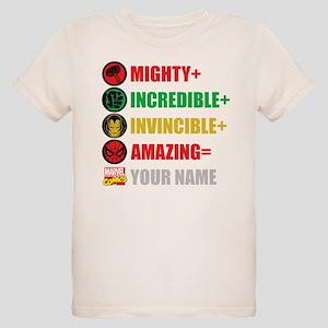 Mighty Incredible Invincible Organic Kids T-Shirt