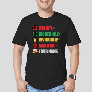 Mighty Incredible Invi Men's Fitted T-Shirt (dark)
