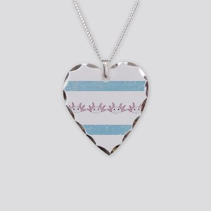 Chi-Town Axolotl (vintage loo Necklace Heart Charm