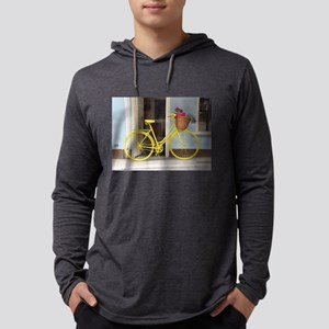 retro style Yellow Bicycle and Long Sleeve T-Shirt