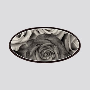 Black and White Rose Bouquet Patch