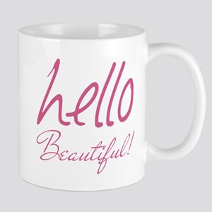 Gifts for Her Hello Beautiful Pink Mugs